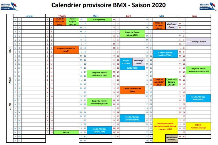 Calendrier Saison 2020.Agenda Bmx Neuville